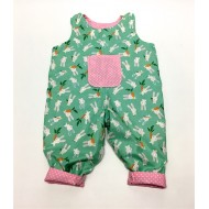 Bunny Reversible Dungarees