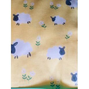 Blanket,Yellow sheep print