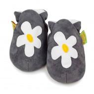 Baby Shoes, Grey Daisy