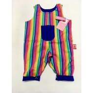 Reversible Dungaree, Rainbow Stripe