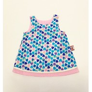Dress, Reversible Blue Strawberry