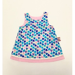 Dress, Reversible Blue Strawberry