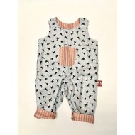 Reversible Dungarees  , Puffins