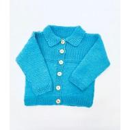 knitwear,Jacket Turquoise