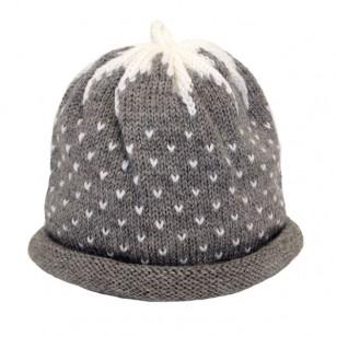 Grey Strawberry Hat