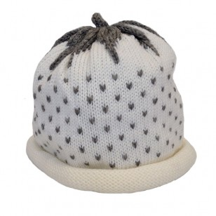 White Strawberry Hat