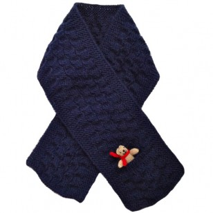 Scarf ,Navy Teddy