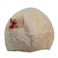 Cream Teddy Hat