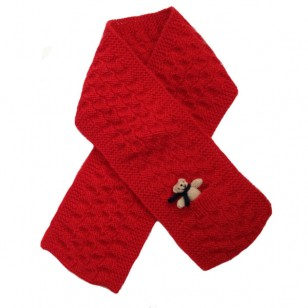 Scarf , Red Teddy
