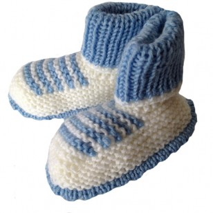 Blue Newborn Knitted Set, 0/6 months
