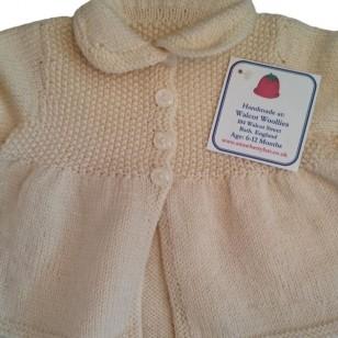 Knitwear Matinee Jacket Cream