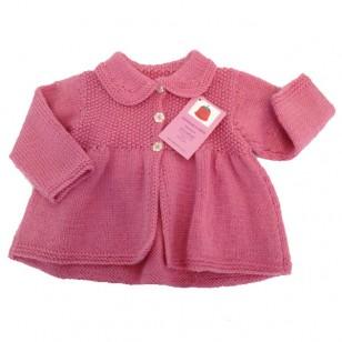 Knitwear Matinee Jacket, Pink
