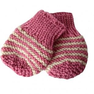 Pink Stripe Mitts, 0/6 months