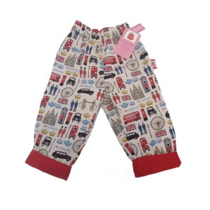 London Print Reversible Trousers